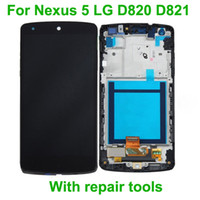 Wholesale For Nexus LG D820 D821 LCD Display Touch Screen glass Panel Digitizer frame Assembly OEM quality repair tools