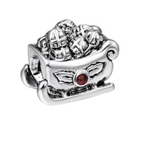 best sleds - 2015 Fashion Sled Design Sterling Silver European Screw Bead Charm Best Unique Christmas Jewelry For Snake Bracelet Chain