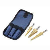 Wholesale 1set3pc Quick change quot Hex Shank larger Titanium Coated Step Drill Bit SetHot New Arrival