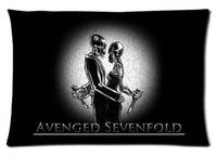 avenged sevenfold band - Rock Band Avenged Sevenfold Fashion Style Cotton Linen Decorative Suitbale Single Pillow Case Standard Size x60cm Twin Sides