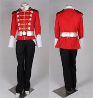 Wholesale 2015 Nutcracker Royal Prince Guard Uniform Outfit Fancy Dress Party Cosplay Costume Custom Made For Prince Charming Costume Dropshipping