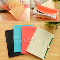 Wholesale 1PC Plastic Pockets A4 Paper File Folder Holder Document Office Supplies New