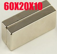 60 * 20 * 10 n52 aimant 1pc forts Big Strip bloc Cuboid 60 mm x 20 mm x 10 mm Rare Earth néodyme Magnet N50 livraison gratuite