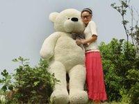 achat en gros de couleur blanche jouets ours en peluche-2015 chauds Les plus nouveaux 200CM / 78''inch grands peluche jouets en peluche de jouet de peluche de peluche de PELUCHE de PELUCHE 4 couleurs choisissent le grand cadeau de cadeau de Saint-Valentin d'ours blanc
