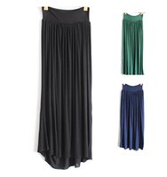 maxi skirt and dress - 10 COLORS Europe and the United States storm simmias modal maxi dress skirt fairy skirt A word skirt hem down dress LJJA2036