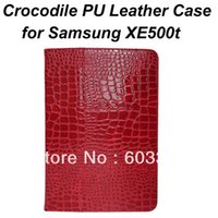 ativ tablet case - Crocodile Pattern PU Leather stand case for Samsung ATIV Smart PC XE500t quot tablet PC XE500T leather cover