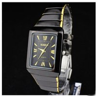 Wholesale Best selling The high end luxury Classic Fashion Square Ultrathin Steel Quartz Watch