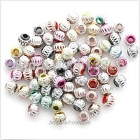 aluminium heart - OMH Mixed Color Aluminium Engraved Loose Bead Spacer Beads mm mm mm new