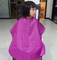 Wholesale 60 cm Children Hair Cutting Waterproof Cape Barber Styling Salon Hairdressing Wrap for years baby Capes multi color DHL freeshipping