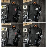 leather clothes - Fashion New Baseball Leather Jacket autumn winter Numeral Printing Embroidery Casual Coat Men Clothes