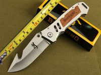 Wholesale 2015 New Browning CUT counter strike Rescue Bowie Knife Camping Hunting Rescue Knife Tactical hunting camping knife Christmas Gift OFF186