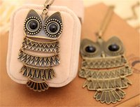 Pendant Necklaces apparel fashion jewelry - Fashion Vintage Owl Necklaces Women Ladies Sweater Necklaces Jewelry Animal Pendant Necklace Christmas Gifts Apparel Accessories