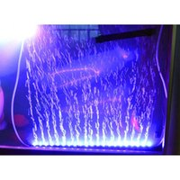 Wholesale 55cm W Degree RGB Colors IP68 Submersible Remote Control Fish Tank LED Lights Bar LEDs Bubble Aquarium Lighting order lt no tra