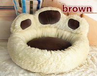 Wholesale 5pcs NEW Polar Bear Bear Paw Pet Nest Warm Teddy Kennel Ultra Plush High Quality Backrest Type Dog Bed color M kg