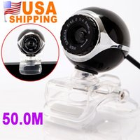 Wholesale US STOCK US Stock To USA CA Hot Sale USB M HD Webcam Camera Web Cam With Mic Computer PC Laptop UPS Free Drop Shipping