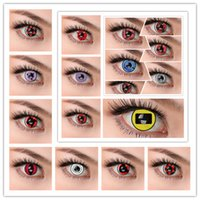 big case fans - and LENS CASE japanese famous anime NARUTO FANS red sharingan cosplay soft color contact lens KAKASHI HITACHI SHISU