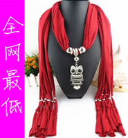 Wholesale 50pcs owl mixed colors cm Alloy Cross Pendant Scarf Jewelry Beads fridge Scarves Necklace Scarfs with Animal Heart Flower Pendants