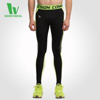Wholesale HOT SALES Men s Base Layer Fitness Jogging Long Pants Trousers Compression Tights Sports Running Leggings Workout Gym Wear