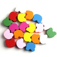 assorted wooden beads - x Mixed Assorted Colorful Bear Wooden Beads Charms Spacer Beads Fit Bracelets DIY Have in Stock