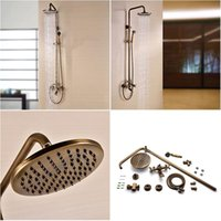 Wholesale Sprinkle by Antique Brass Tub Shower Faucet with inch Shower Head Hand Shower