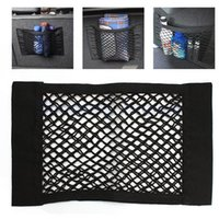 Wholesale 40x25cm Universal Car Seat Back Storage Mesh Net Bag Luggage Holder Pocket Sticker Trunk Organizer Strong Magic Tape Accessories