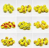 Wholesale 2015 new jewelry accessories QQ expression playful ceramic beads emoji loose beads MM