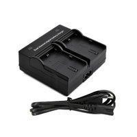Cheap Dual Channel Battery Charger for Canon EOS LP-E6 Battery 5D Mark II III 70D 7D 60D Digital Camera EU US plug