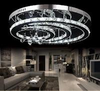 Wholesale New Design K9 crystal LED chandelier ceiling living room bedroom modern lighting Dia600 H300mm
