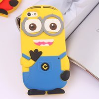 Wholesale Despicable Me Minions Minion Men Case Silicone Cases Covers For iphone S S G Plus Soft Silicone Gel Back Cover