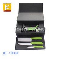 arylic box - Gift box EVA promotion ceramic knife with arylic block set
