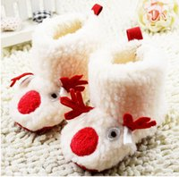 fluffy boot - 2015 cartoon fluffy white plus thick velvet warm snow boots months newborn baby girl leisure sports Waist winter boot pair cl