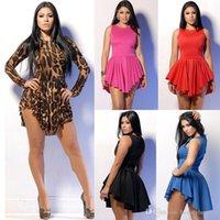 plus size clubwear - Sexy Women Leopard Plus Size Dress Print Slim Cocktail Bodycon Bandage Clubwear Evening Dress Cheap Black White Dress