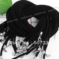 Wholesale Black Velvet Necklace String Cord mm CC009