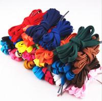 Wholesale 29 colors Flat Shoe Lace Shoelace Strings shoes lace for Sneakers athletic shoes sports shoes