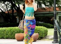 Wholesale 2015 summer style Sexy Wrap Chiffon Sarong Beach Cover Up Scarf Hawaiian Style Blue Colors