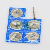 Wholesale 5pc mm Diamond coated rotary cutting cut wheel disc with arbor
