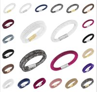 Wholesale 2015 Hot Brand New Mesh Stardust Bracelet Shining Crystal stone Filled Magnetic Clasp Wrap Charm Statement Bracelet For Women