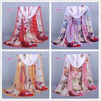 autumn color map - Hot color Fashion Spring and Autumn Long Scarf Womens Beauty map Chiffon Scarves x50cm