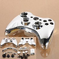 Wholesale New Glossy Chrome Custom Wireless for Xbox Controller Replacement Full Housing Shell Case Cover Components Button Kits