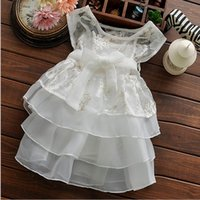 layer cake - 2015 Summer Chinese Style Hot Sale Childrens Sets Baby Girls Sweet Cake Layer Suspender Dress Sleeveless Coats Sets Girls Kids Elegent Sets