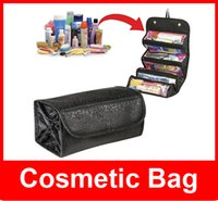 Wholesale Roll N Go Lady s Travel Large Capacity Multi Functional Organizer Cosmetic Bags Jewelry Storage Make Up Bag