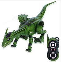 Wholesale New Arrival Remote Control Dinosaur RC Fire breathing Dinosaur Model Toys For Kids Birthday Xmas Gifts