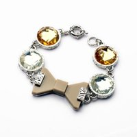 Wholesale Bowknot Diamante Woman Bracelets Big Brand Wrist Chain Hand Decoration Fashion Jewelry Accessories Collection Factory a