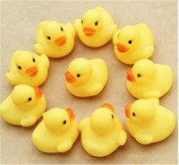 Animes & Cartoons ducks - Baby Bath Water Toy toys Sounds Yellow Rubber Ducks Kids Bathe Children Swiming Beach Gifts Early childhood educational toys