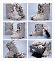 Wholesale Original Kanye West Yeezy M Boost Moon Rock Men s Fashion Flat Boot Boots AQ4829 Moonrock