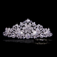 Cheap Hair Accessories Korea 2015 New Wedding Crown Shining Wedding Bridal Crystal Veil Tiara Crown Headband Crown Wedding Party Pageant