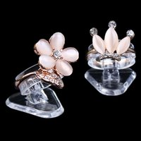Wholesale Economic Clear Ultra Mini Plastic Ring Holder Ring Display Stand Jewelry Rack Jewelry Display Stand Props
