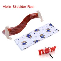 Wholesale High Quality Fiddle Violin Shoulder Rest Maple Wood Material with Cleaning Cloth New Arrival