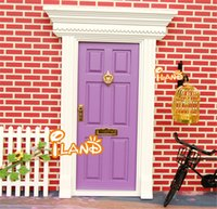 fairy door - Wooden Doll House Diy Lovely Fairy Doors Inspire Imaginative Play for Kids Special Gift For Children Girl Miniatures Toys FD022