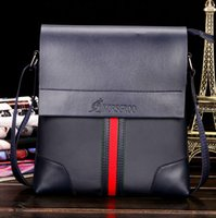 Wholesale High grade leather fashion bag man business mobile phone package bags obliquely across the bag Mens Black Brown